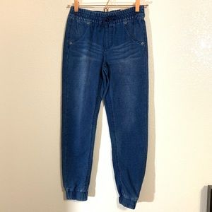 MUDD | NWT Girls Knit Denim Style Joggers Size 12